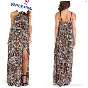 Rachel Zoe Carrigan cheetah print maxi dress